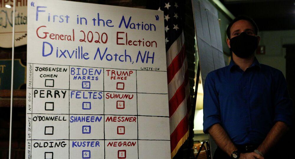 Wyniki głosowania w gminie Dixville Notch, New Hampshire