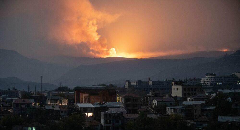 Wybuch na południowym wschodzie od Stepanakert
