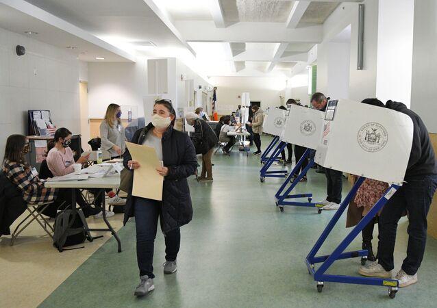 Lokal wyborczy w Nowym Jorku