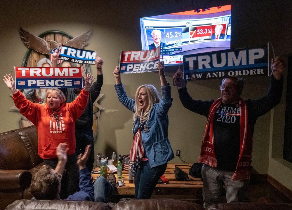 Zwolennicy prezydenta USA Donalda Trumpa