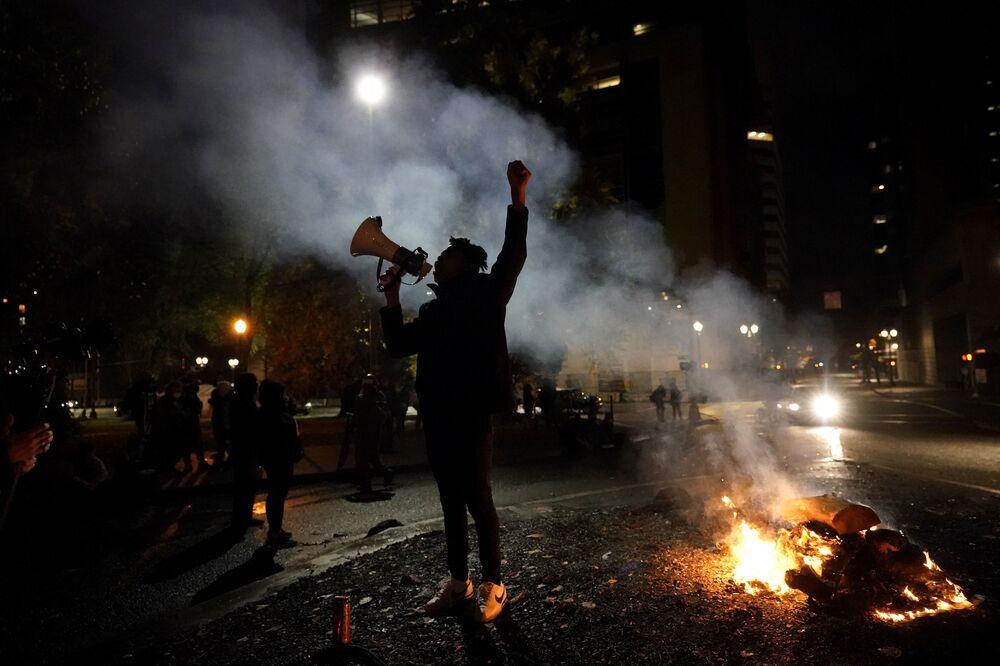 Protesty w mieście Portland, stan Oregon
