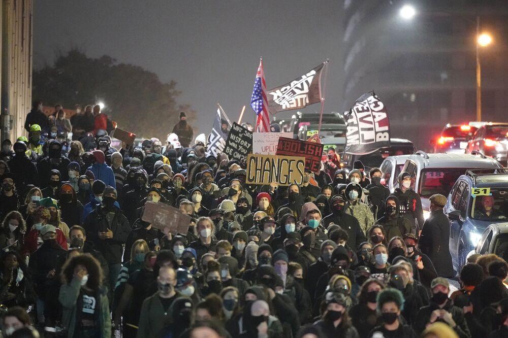 Protest w dniu wyborów w Seattle