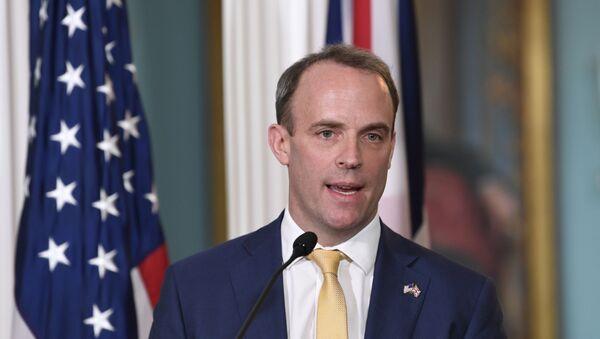 Minister spraw zagranicznych Wielkiej Brytanii Dominic Raab - Sputnik Polska