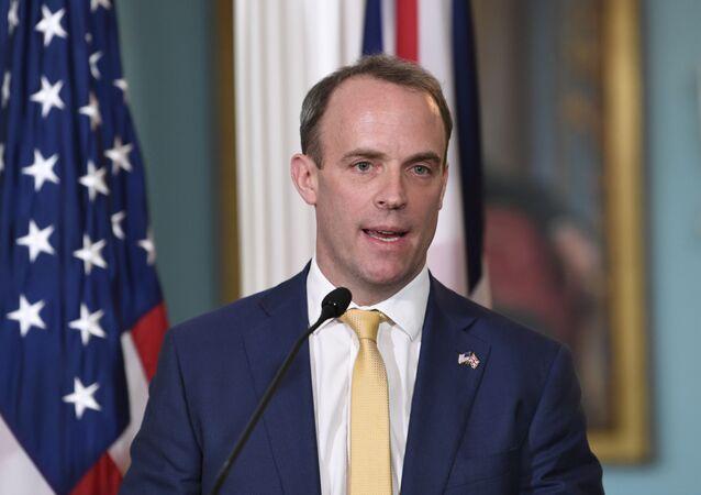 Minister spraw zagranicznych Wielkiej Brytanii Dominic Raab.