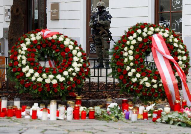 Miejsce strzelaniny w Wiedniu