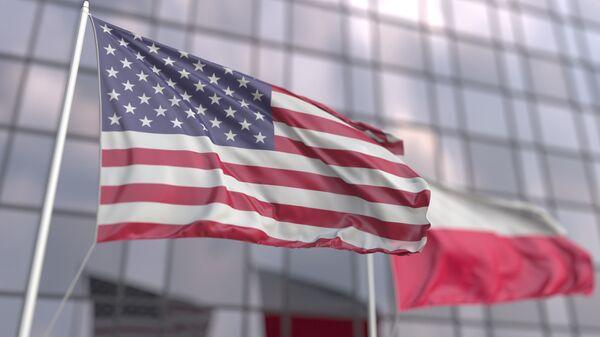 Flagi USA i Polski - Sputnik Polska