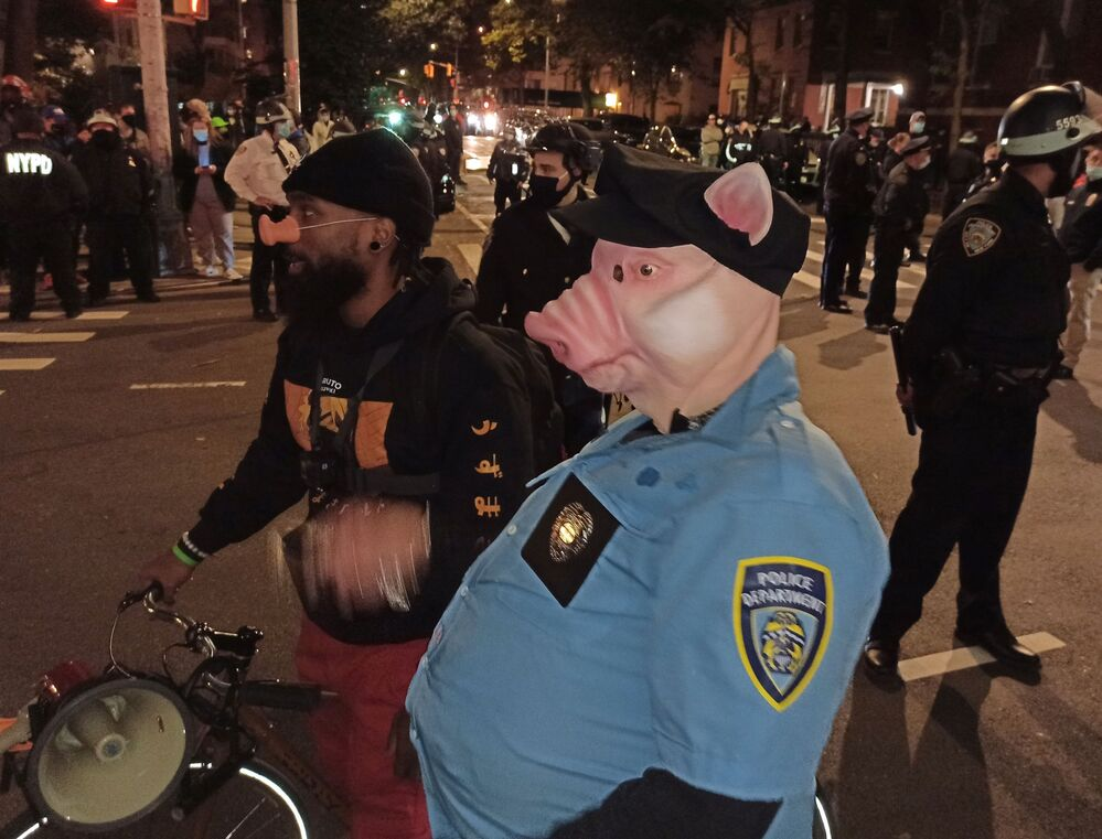 Akcja protestacyjna w Nowym Jorku po wyborach w USA