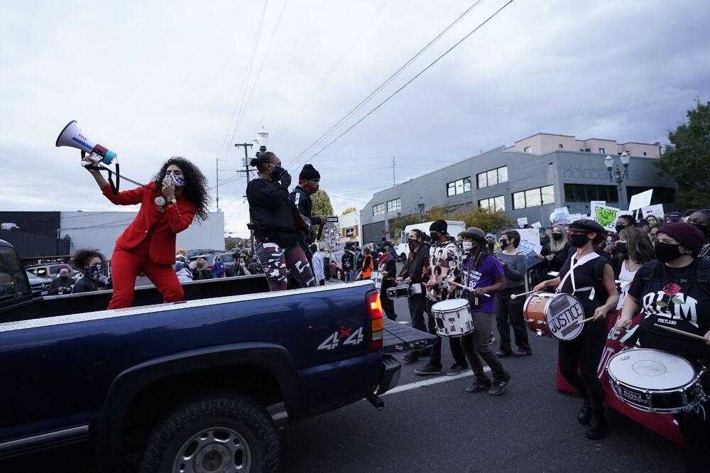 Akcja protestacyjna w Portland po wyborach w USA