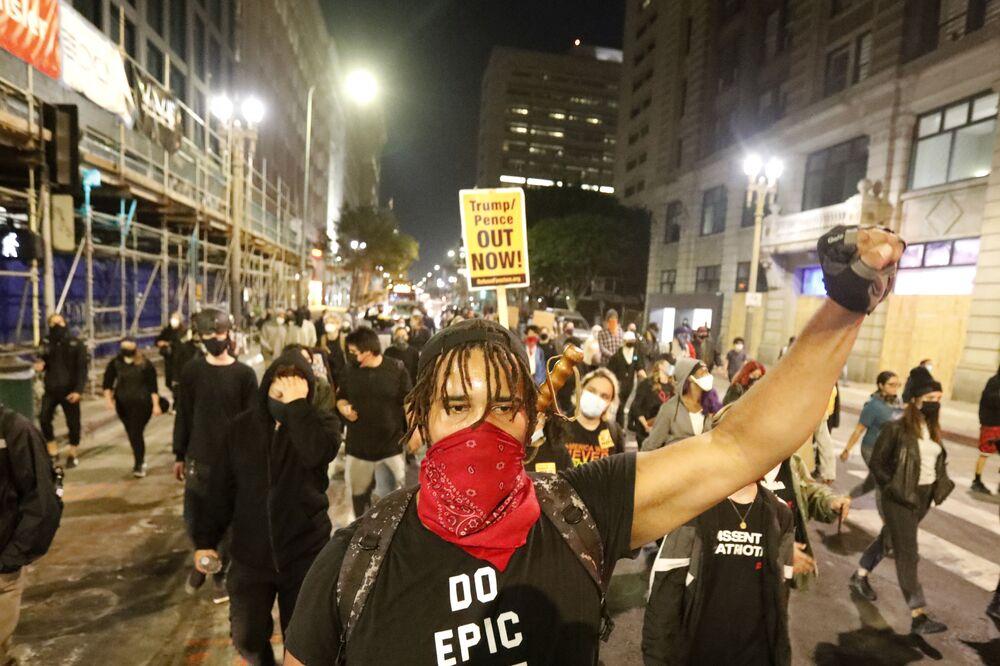 Akcja protestacyjna w Los Angeles po wyborach w USA