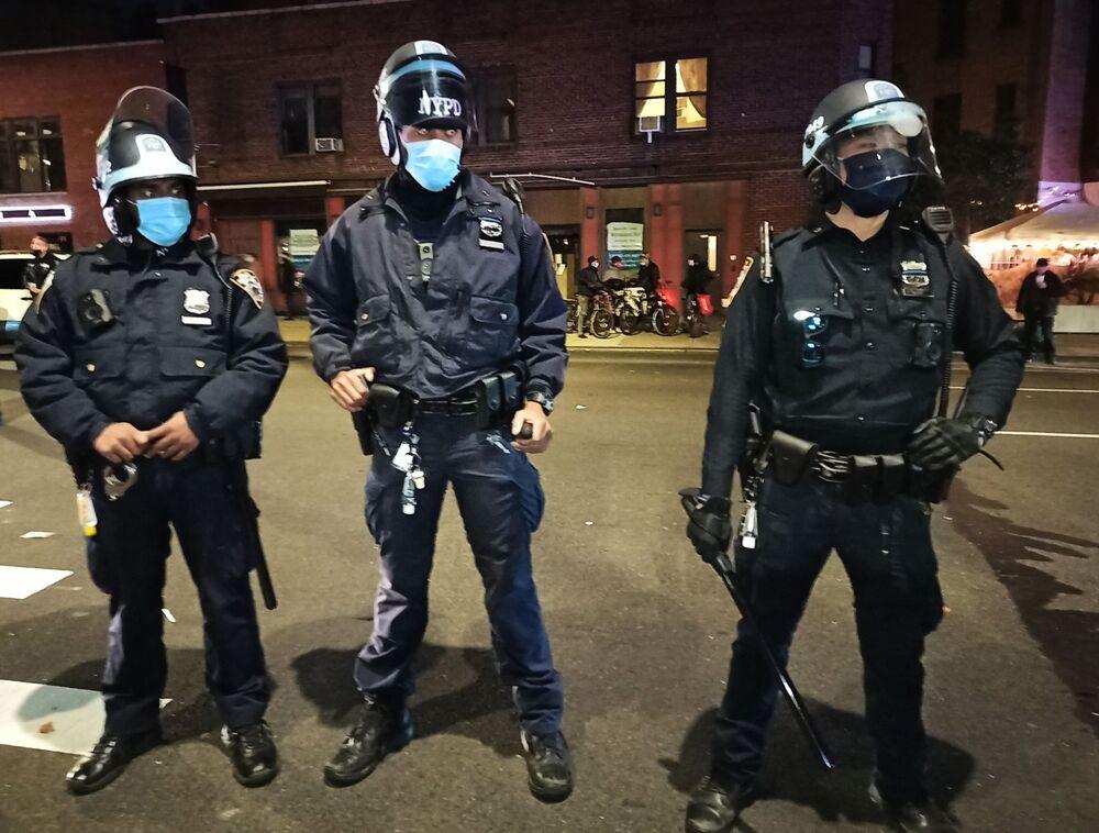 Policja na ulicach Nowego Jorku po wyborach w USA
