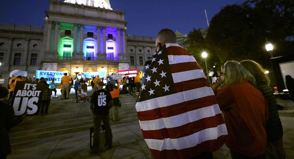 Zamieszki w stanie Pensylwania wyborach prezydenckich w USA