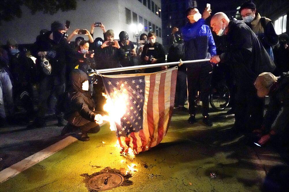 Zamieszki w Portland po wyborach w USA