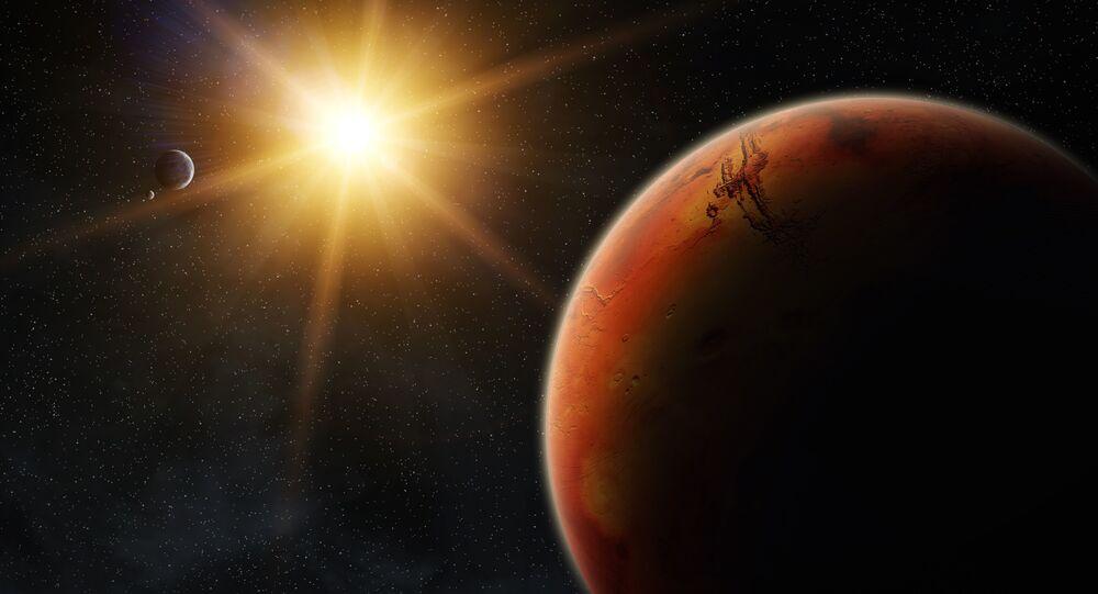 Mars o wschodzie słońca