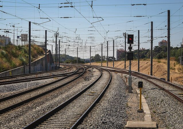 Szyny kolejowe w Europie.