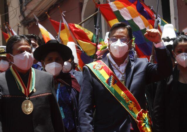 Prezydent Boliwii Luis Arce.