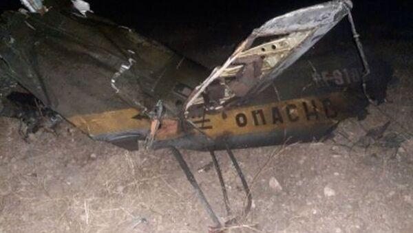 Wrak rosyjskiego śmigłowca Mi-24 zestrzelonego w przestrzeni powietrznej nad terytorium Armenii - Sputnik Polska