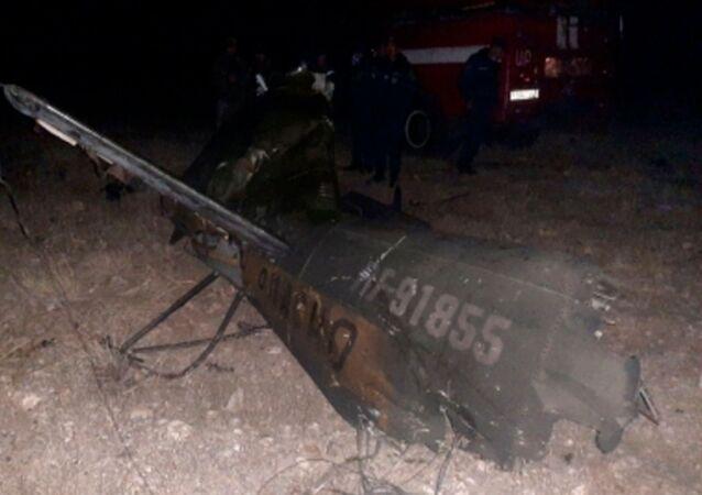 Rosyjski śmigłowiec Mi-24 rozbił się w Armenii.