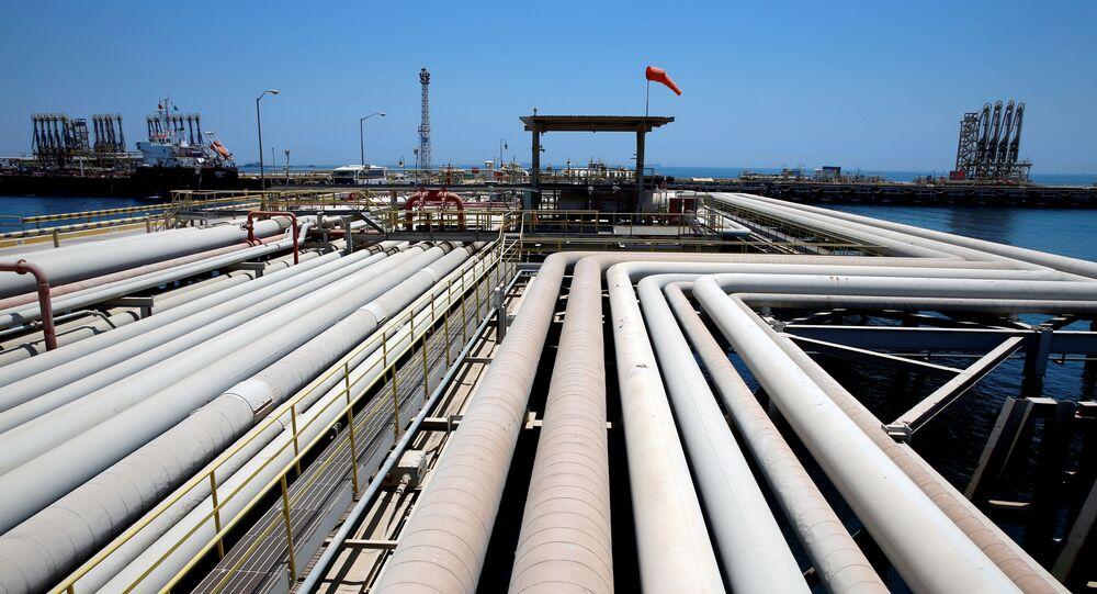 Infrastruktura naftowa w Arabii Saudyjskiej.