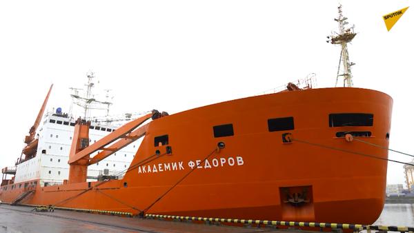 """Statek """"Akademik Fiodorow"""" wrócił do Petersburga z wyprawy arktycznej - Sputnik Polska"""