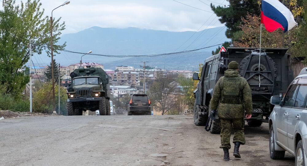 Rosyjskie siły pokojowe w Górskim Karabachu. \