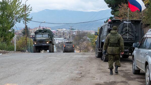 Rosyjskie siły pokojowe w Górskim Karabachu. \ - Sputnik Polska