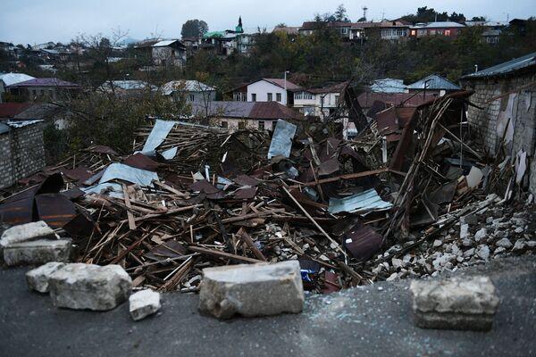 Zniszczone domu w Górskim Karabachu - Sputnik Polska
