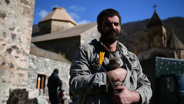 Klasztor we wsi Dadiwank w Górskim Karabachu - Sputnik Polska