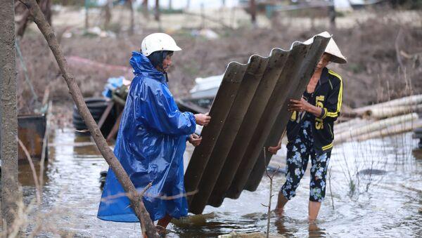 Tajfun Vamko dotarł do Wietnamu. - Sputnik Polska