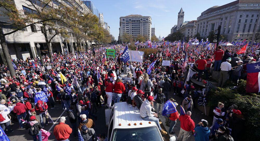 Zwolennicy Donalda Trumpa w Waszyngtonie, 14.11.2020 r.