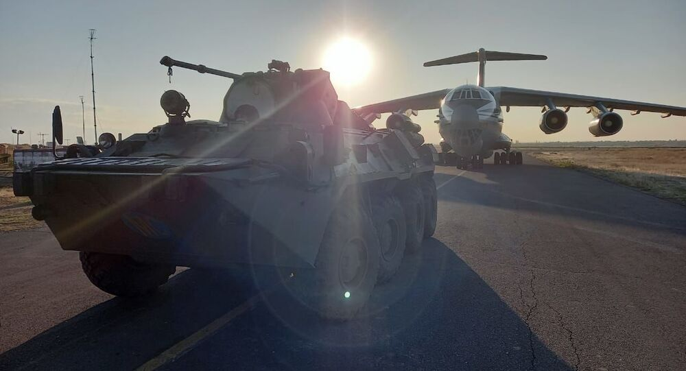 Rosyjscy żołnierze sił pokojowych w Armenii