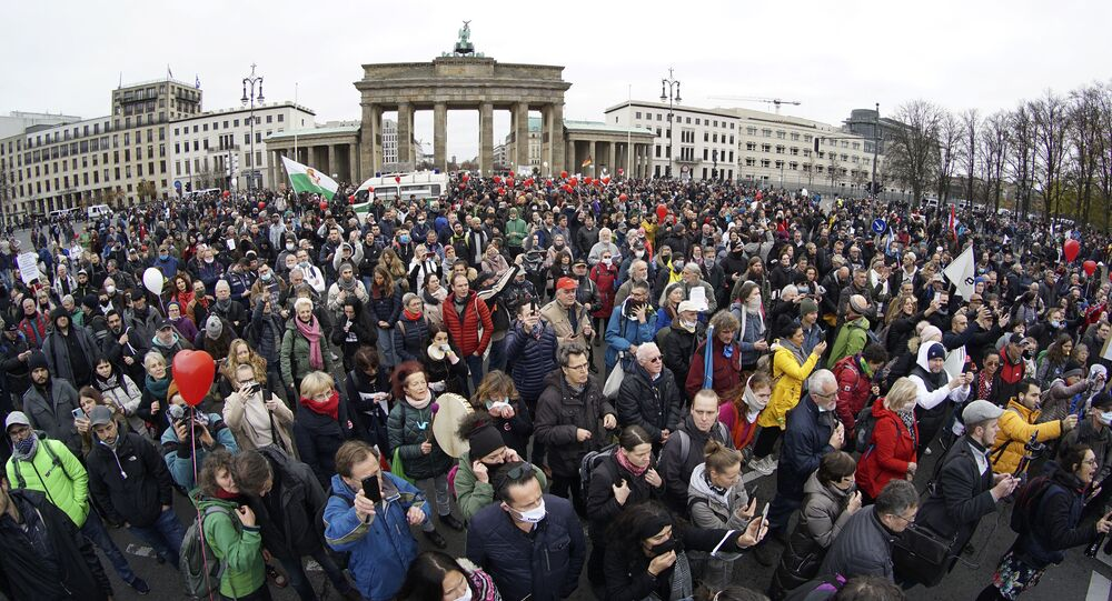 Protesty w centrum Berlina