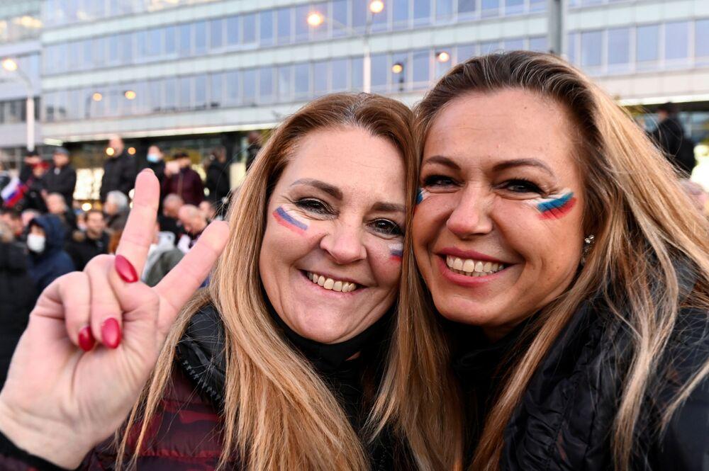 Uczestniczki protestu w Bratysławie