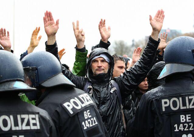 Protest w Berlinie