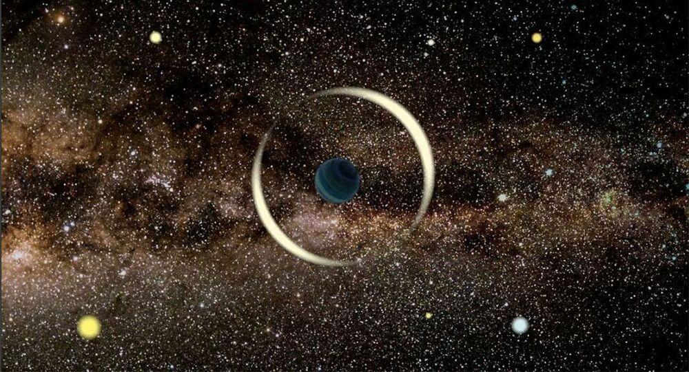 Artystyczna wizja samotnej planety