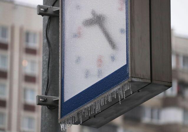 Zegar uliczny w Moskwie