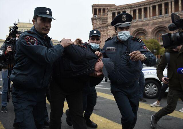 Protesty w Armenii.