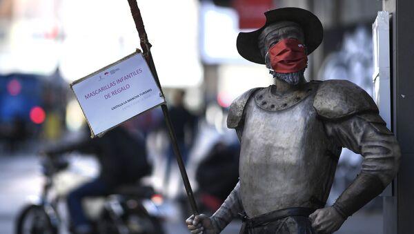 Pomnik Don Kichota, Madryt - Sputnik Polska