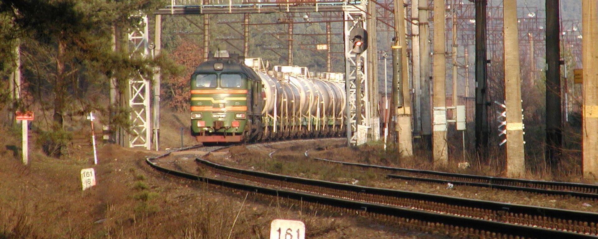 Поезд на государственной границе Белосток-Гродно - Sputnik Polska, 1920, 04.08.2021