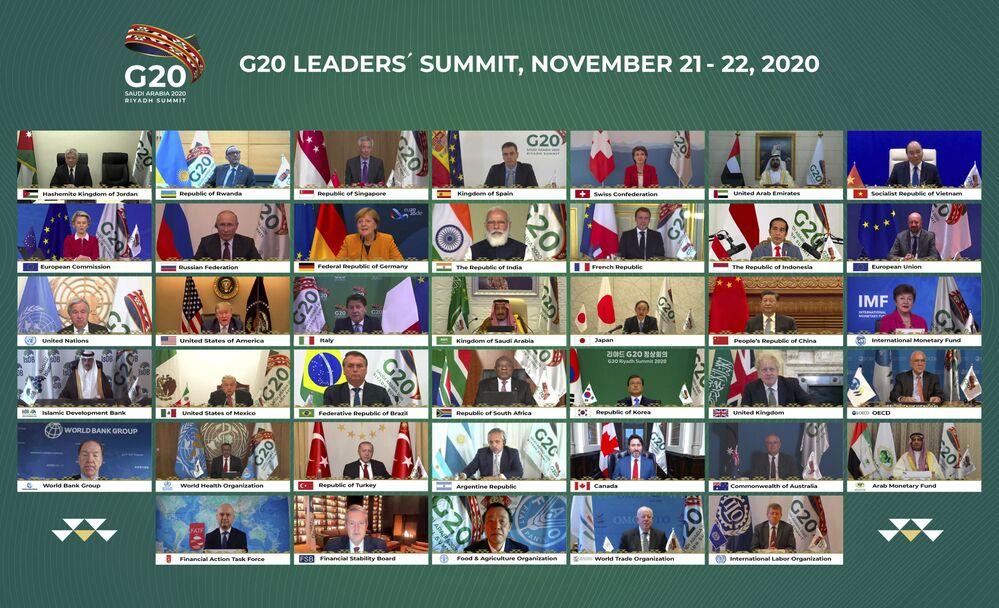 Wideokonferencja szczytu G20 w Arabii Saudyjskiej