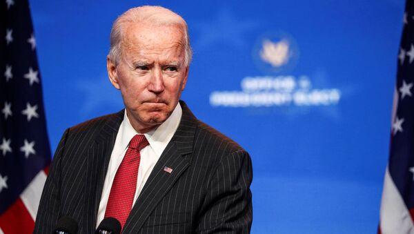 Kandydat na prezydenta USA Joe Biden w Wilmington - Sputnik Polska