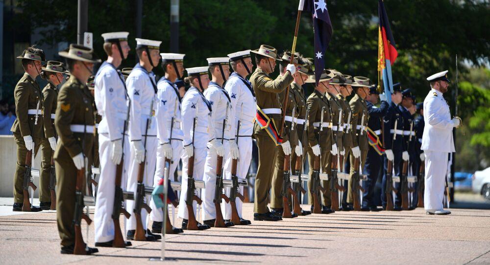 Straż Honorowa w Kwaterze Głównej Obrony przed publikacją ustaleń generalnego inspektora Sił Obrony Australii ds. dochodzenia w Afganistanie, Australia