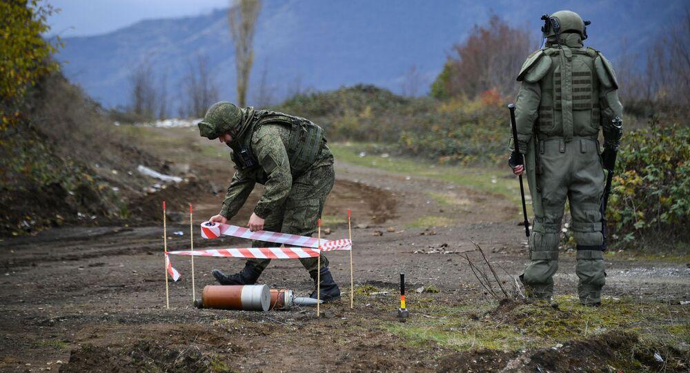 Specjaliści centrum przeciwminowego Ministerstwa Obrony Federacji Rosyjskiej rozpoczęli prace w Karabachu.