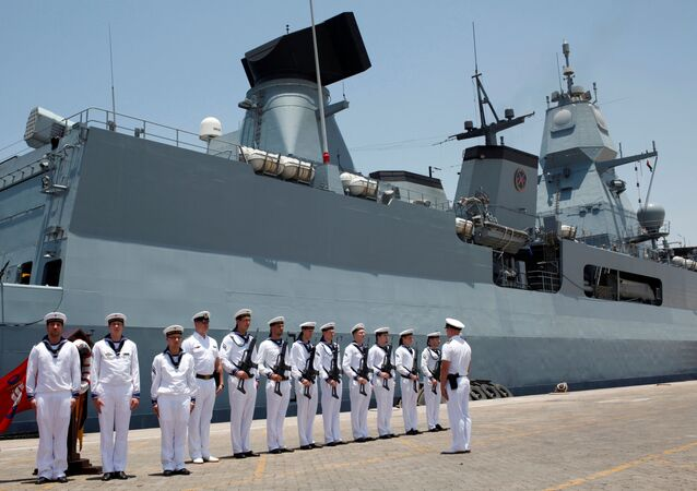 Niemiecki okręt wojenny Hamburg