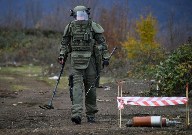 Specjaliści centrum przeciwminowego Ministerstwa Obrony Federacji Rosyjskiej rozpoczęli prace w Karabachu