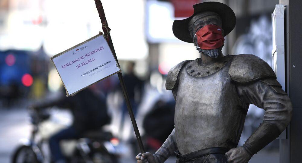 Figura Don Kichota w masce, Madryt