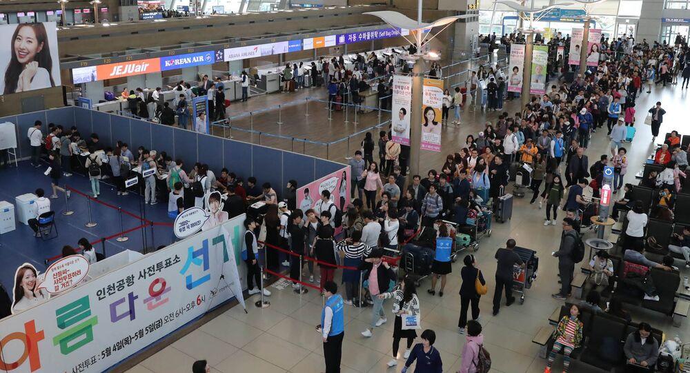 Lotnisko Incheon w Seulu w Korei Południowej