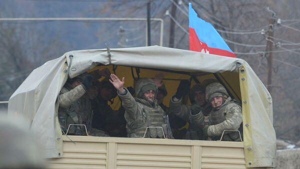 Azerbejdżańscy żołnierze w rejonie Kelbecer. - Sputnik Polska