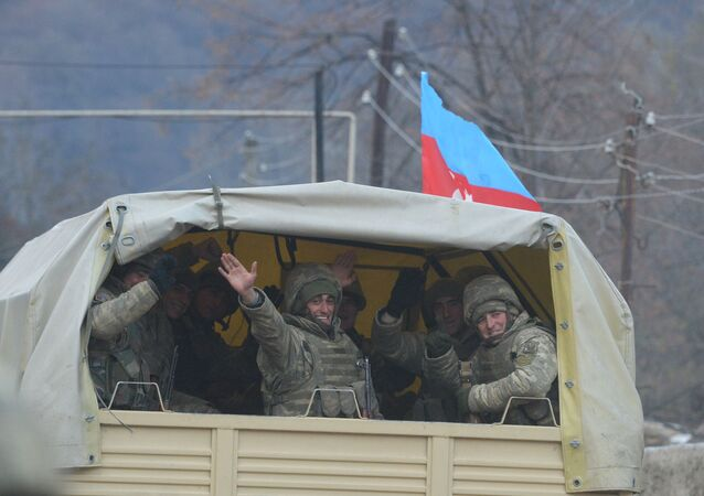 Azerbejdżańscy żołnierze w rejonie Kelbecer.
