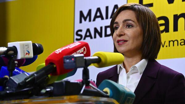 Prezydent-elekt Mołdawii Maia Sandu - Sputnik Polska
