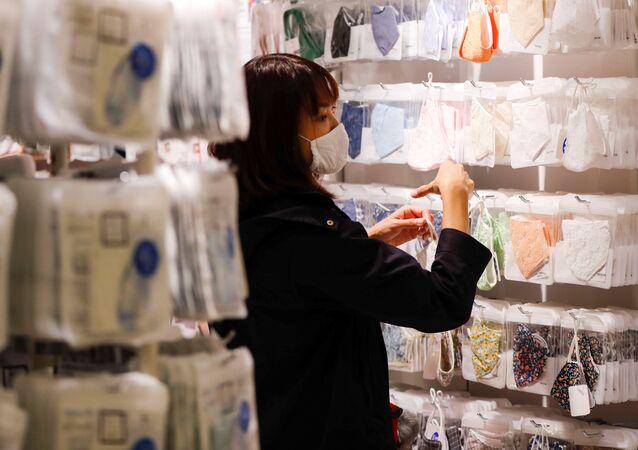 Sklep z maskami w Tokio